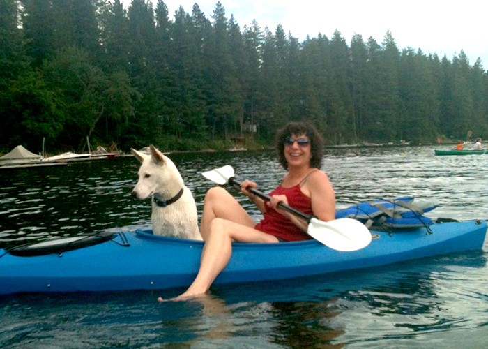 Dog: kayaker's best friend!