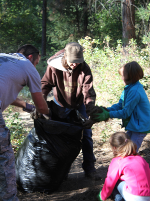 The Deer Park community pulls together to clean up their park.
