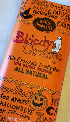 Seattle Chocolate's Bloody Orange flavor can be found at the Chocolate Apothecary in Spokane.
