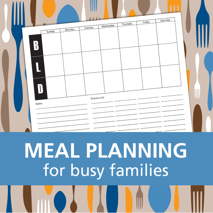 Meal planning tips plus a FREE download of a weekly meal planner.