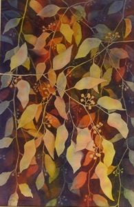 'Vines of Color' (watercolor painting) by Holly D. Hyndman