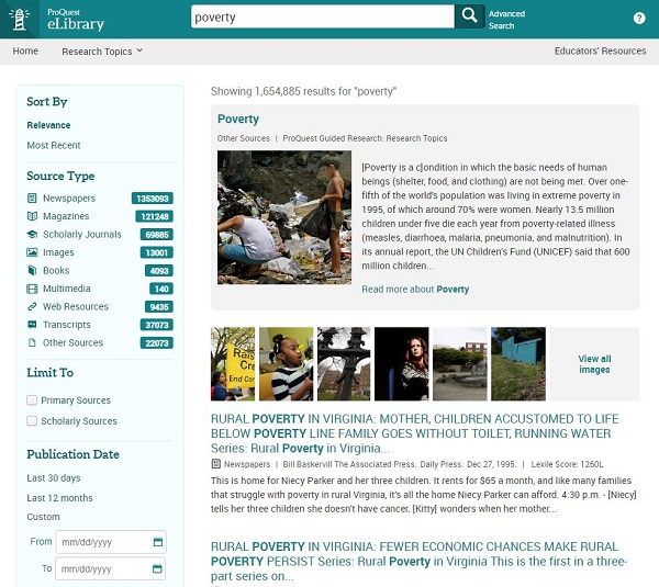 eLibrary by ProQuest
